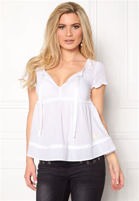 fin blouse molly fin tastic blouse bright white bubbleroom