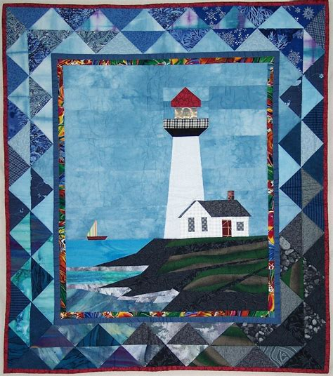 Lighthouse Quilt Patterns quilt pattern pigeon point lighthouse free shipping 12 50 handmade commercial supplies