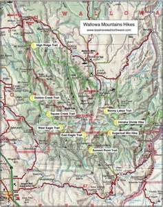 wallowa lake oregon map day hikes in the wallowa mountains
