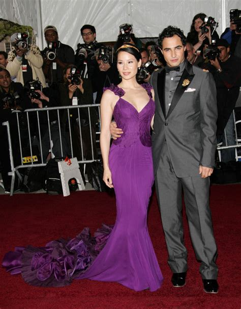 Lucky Liu At The Met Costume Gala With Zac Posen And 35 Carats Of Yellow Sapphires To Left by Liu Photos Photos Met Costume Institute Benefit