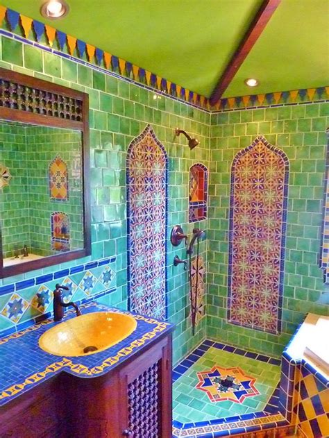 mexican tile bathroom designs bathrooms decor inspiration and boho on