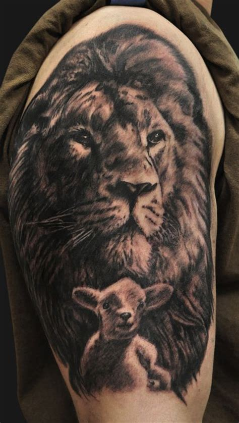 christian lamb tattoo jamie lee parker lion and lamb tattoo tattoos fine art