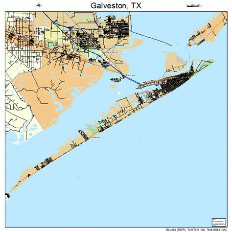 galveston map texas galveston texas map 4828068