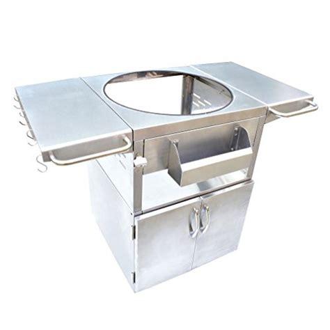 kamado joe stainless steel table onlyfire stainless steel grill table fit kamado joe big