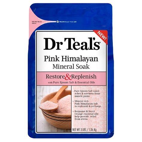 Is Himalayan Salt Or Epsom Salt Better To Detox by Dr Teal S 174 Restore Replenish Epsom Salt Essential