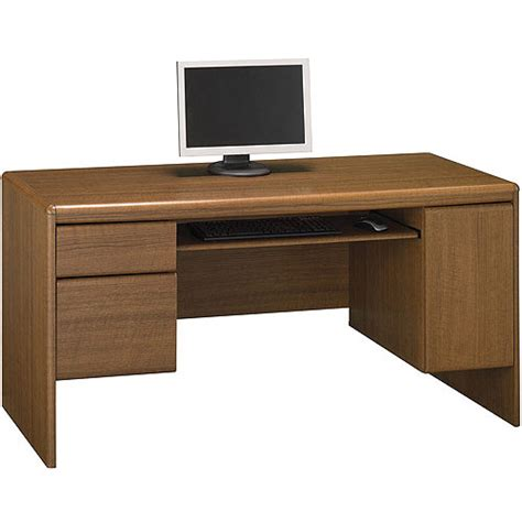 Computer Credenza Desk Bush Northfield 54 Quot Credenza Computer Desk Dakota Oak Walmart