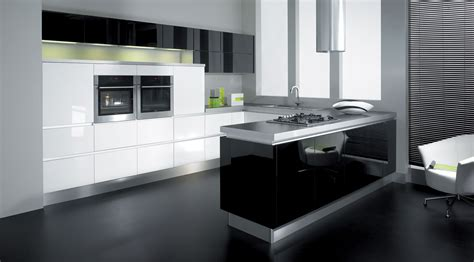 And White Kitchens by Black And White Kitchen With Retro Theme Nixgear