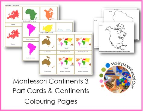 free printable montessori geography materials diy continents globe montessori geography materials at