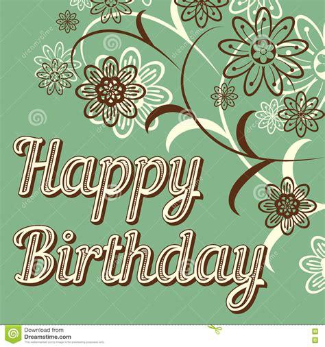 imagenes vintage happy birthday tarjeta retra del feliz cumplea 241 os del vintage con las