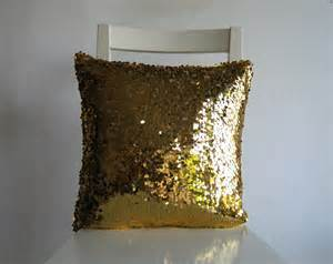 gold sequins 16x16 pillow cover glitter sparkly