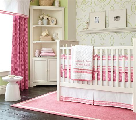 Mini Crib Bedding Sets Mini Dot Nursery Bedding Set Pottery Barn