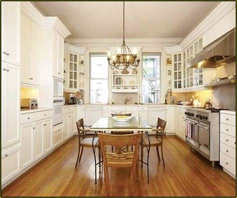 Pictures Of Kitchens With White Cabinets And Hardwood White Kitchen Cabinets Wood Floors