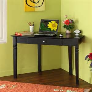 Black Wood Corner Computer Desk Wood Corner Desk In Black Contemporary Desks And Hutches New York By Furniturenyc