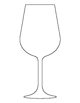 wine glass template wine glass pattern free printable line patterns