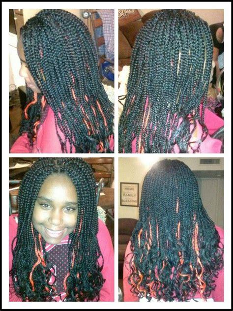 box braids ends kids jumbo box braids with wavy ends hair pinterest