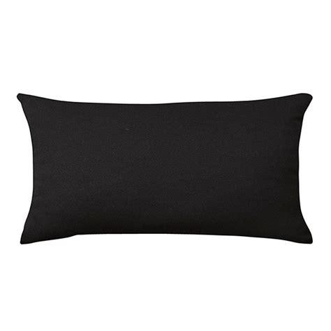 home decorators outdoor pillows home decorators collection sunbrella canvas black long