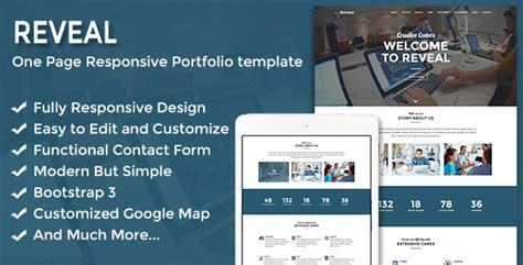 Cizarua Responsive One Page Portfolio Template reveal responsive one page portfolio template by