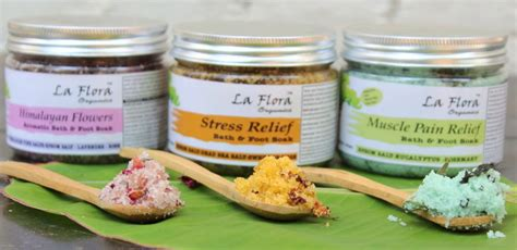 Salt Foot Soak Detox by Detox Bath Salts Foot Soaks La Flora Organics