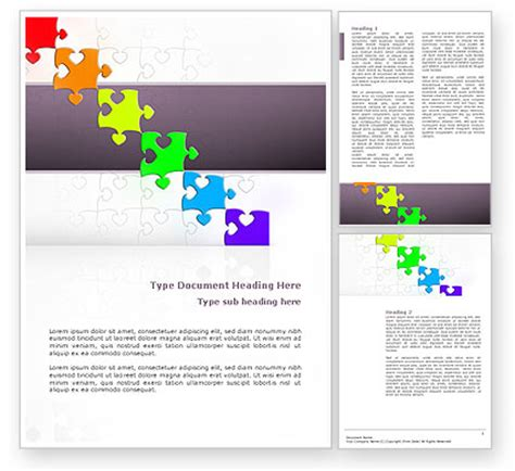 fancy brochure templates fancy jigsaw flyer template background in microsoft word