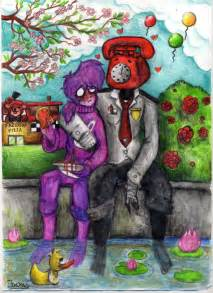 Purple guy x phone guy by francyrancy d9lehnl jpg