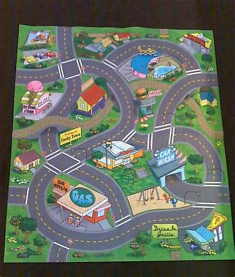 childs rug with roads new childs childrens car funky town road playmat 3 cars felt safe play mat cars toys