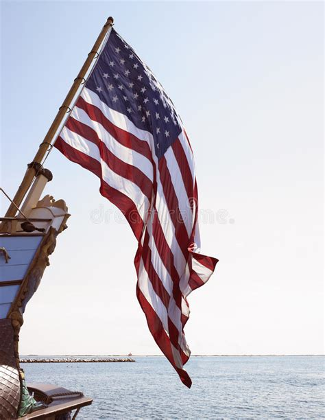 american flag for boat american flag on boat royalty free stock photo image