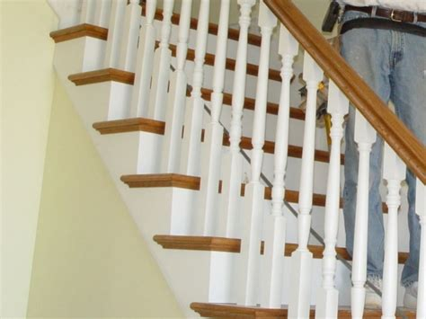 Return Stairs Design Oak Stair Treads With Return Stairs Design Ideas