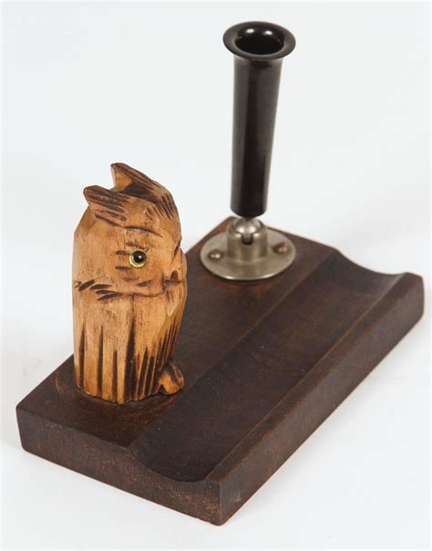 Owl Desk Accessories Black Forest Wood Owl Desk Set For Sale At 1stdibs