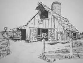 drawings of barns barn by uncledave on deviantart
