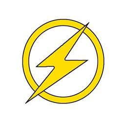 Flash Symbol Outline by Max California Stencils Templates