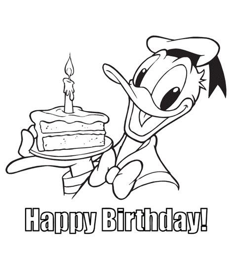 disney happy birthday coloring pages coloring home