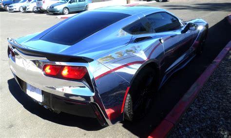 chrome wrapped 2015 c7 corvette chrome wrap factory certified auto body