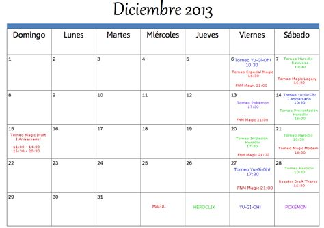 Calendario Diciembre 2013 Big C 243 Mics Calendario De Torneos Diciembre