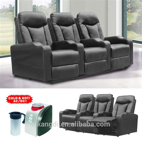 recliner with cooler in armrest folding cinema recliner chair home theater chair with cup