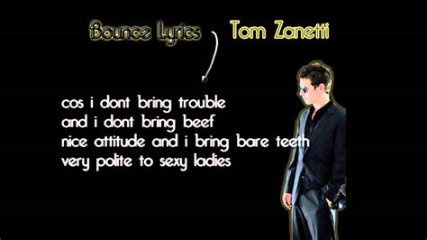 Tom Zanetti Bedroom Lyrics Tom Zanetti Bounce Lyrics