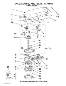 Parts for KitchenAid KSM150PSBU1 Mixer   AppliancePartsPros.com