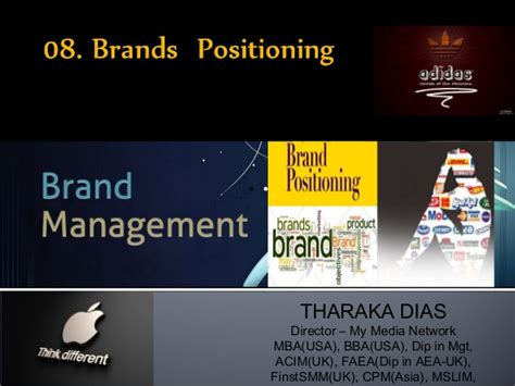 Mba In Brand Management In Usa by 8 Brand Positioning