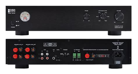 osd audio smp250 mono 250 watt subwoofer rack mountable
