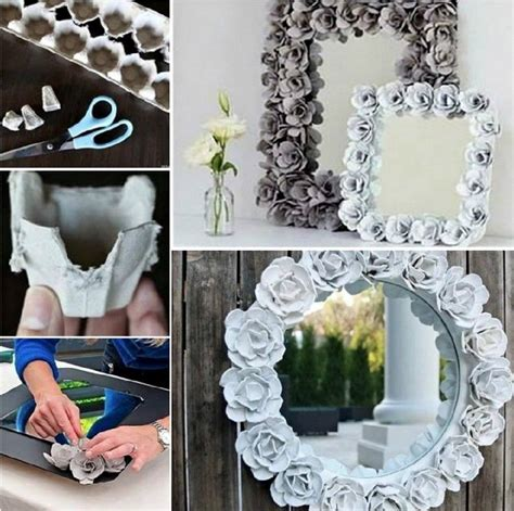 mirror decoration at home easy diy egg carton mirror pictures photos and images
