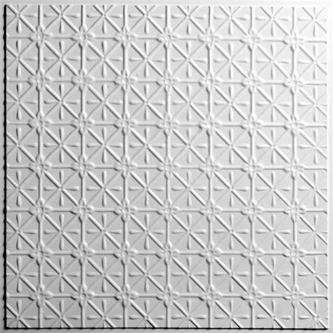 ceilume drop ceiling tiles ceilume continental white 2 ft x 2 ft lay in or glue up