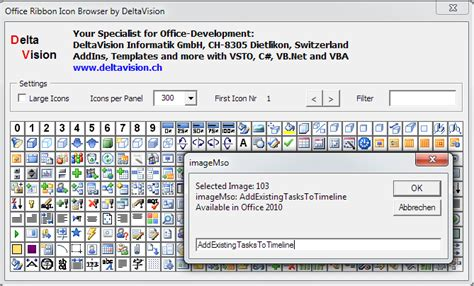 Free developer tool: Office Ribbon Icon Finder (Browser)