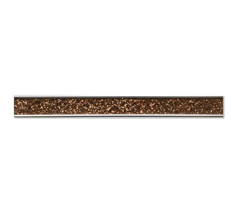 Tile Bordir Glitter brown glitter 60 x 3 2cm glass border tile mosaic