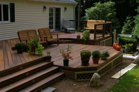 two tier deck designs 1000 images about deck ideas on