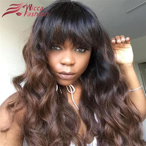 body wave hair with bangs online buy wholesale full lace wigs with bangs from china