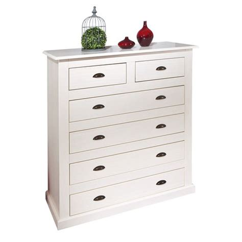 White Chest Of Drawers Solid Wood by Cassala2 White 6 Drawers Chest In Solid Pine Wood 21879