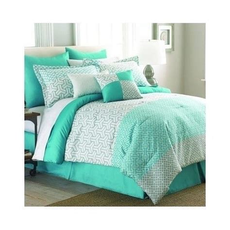 mint green bedding details about green comforter set queen king bed mint