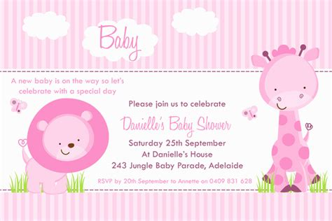 girl baby shower invitations free templates invitations