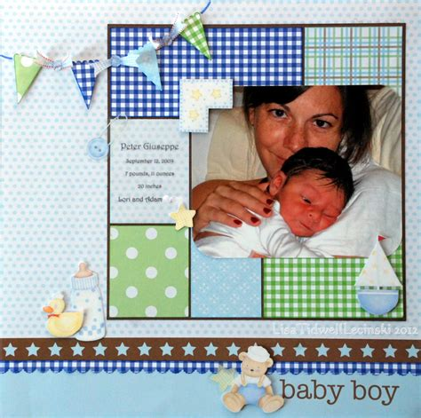 scrapbook layout ideas baby boy layout baby boy