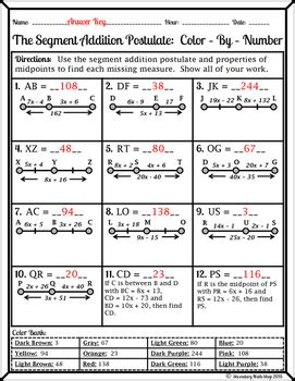segment addition postulate worksheet resultinfos