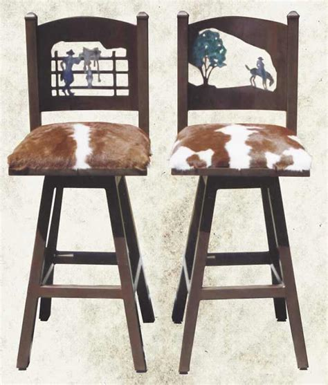 Western Rustic Home Decor Create Wild West Feel With 3 Western Bar Stools Cabinet